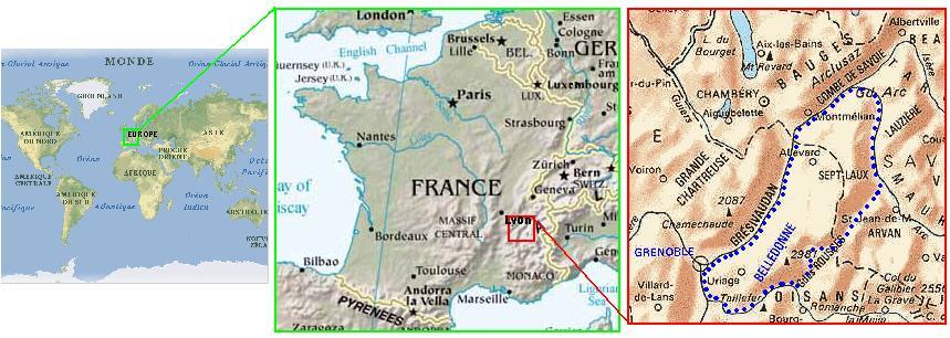 massif de belledonne carte Belledonne38   le massif
